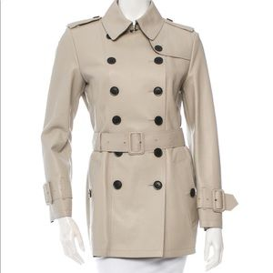 Burberry London trench leather coat 8